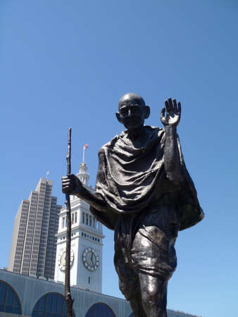 mahatma: Statue of Ghandi By The Ferry Building in San Francisco, California