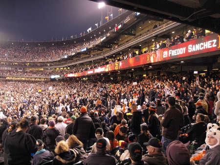 SAN FRANCISCO, CA - JUNE 7: Giants Fans cheer in the stands as