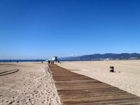 Pathway at Santa Monica Beach