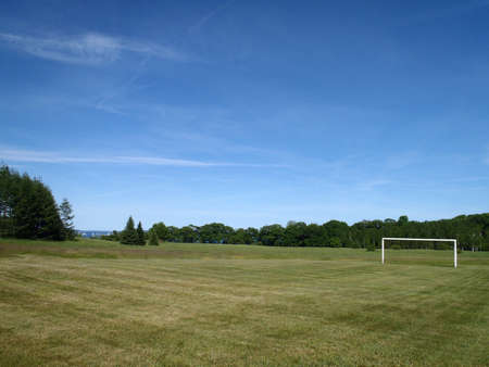 Soccer Field with Goal in Maine