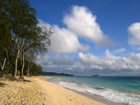 Waimanalo Beach on a great day on Oahu, Hawaii photo