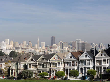 Painted Ladies of San Francisco in California.