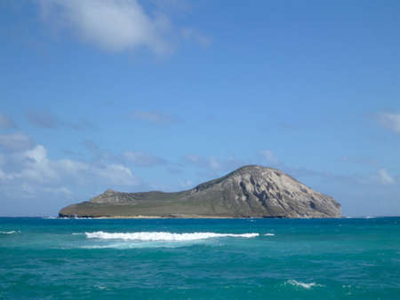 Manana  Rabbit  Island in Waimanalo Bay on Oahu, Hawaii photo