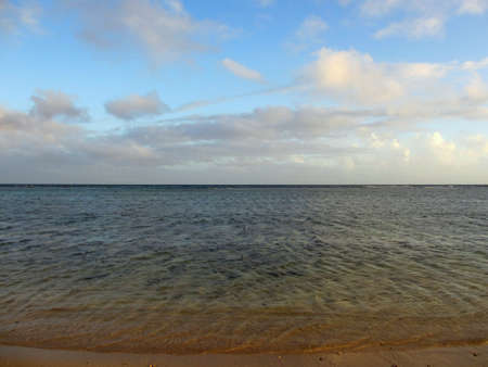 Calm water of the paciifc ocean on the shore of Kahala Beach of Oahu, Hawaii                        Stock Photo - 18153361