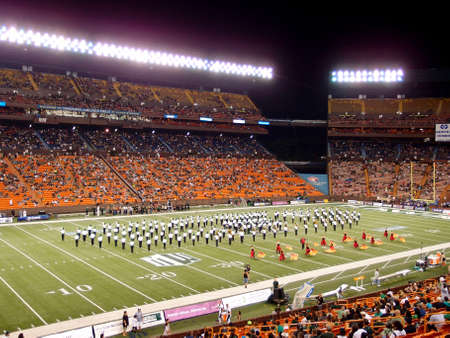 HONOLULU, HI - NOVEMBER 24: Half Time Show during Football game at Aloha Stadium November 24, 2012 on Oahu, Hawaii. Stock Photo - 18306254