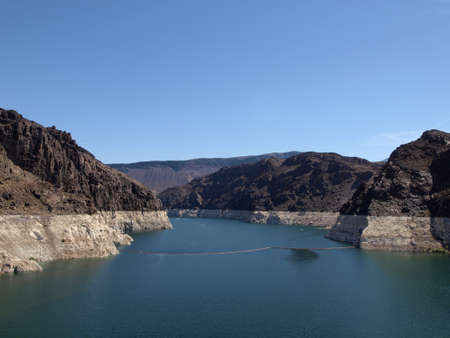 Lake Mead, Colorado River behind the Hoover Dam in Nevada, USA.