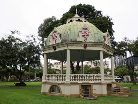 Keliiponi Hali - The Coronation Pavilion was built for the February 12, 1883 coronation of King Kalakaua and Queen Kapiolani.  It is used for the inauguration of the Governors of the state of Hawaii.