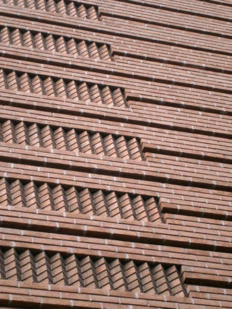 Red Brick pattern side of building in San Francisco, California. Stock Photo - 20098679