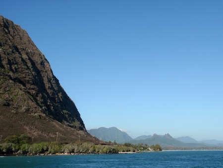 windward: Waimanalo Beach, Ko?olau Range, and ocean on windward coast of Oahu, Hawaii. Stock Photo