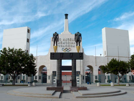 trojans: LOS ANGELES - JANUARY 21: Memorial Coliseum is site of many landmark events including two summer Olympics the latest in 1984. The landmark building may become obsolete due to safety issues. January 21, 2014, Los Angeles Editorial