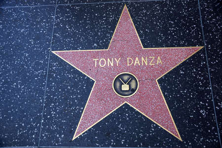 HOLLYWOOD - JANUARY 23: Tony Danzas star on Hollywood Walk of Fame on January 23, 2014 in Hollywood, California. This star is located on Hollywood Blvd. and is one of 2400 celebrity stars.