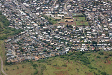 Planned residential community with sporting complex - an aerial near Kapiolei, Oahu  photo