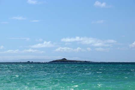 windward: Kaohikaipu Island are located on the Windward side of Oahu, north of Makapuu Point Stock Photo