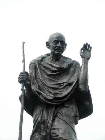 Statue of Ghandi in the embarcadero center, San Francisco, California Archivio Fotografico