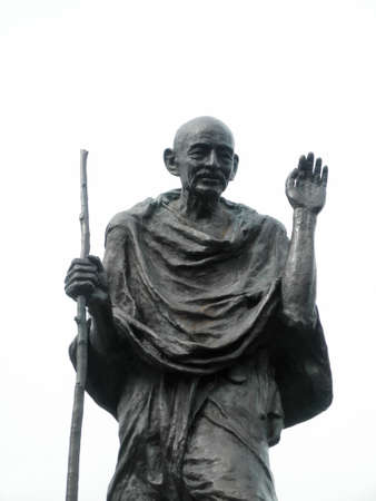Statue of Ghandi in the embarcadero center, San Francisco, California 版權商用圖片