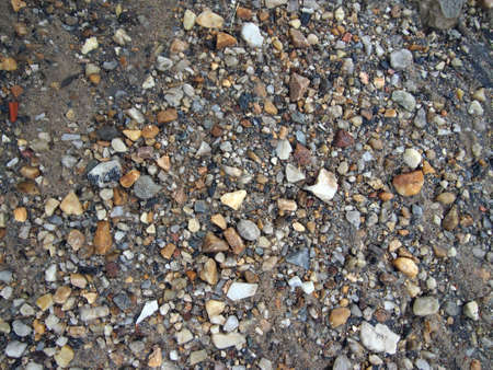 rock creek: Wet Rocks, Sand, and dirt, great for textures, backgrounds at Rock Creek in Washington DC. Stock Photo