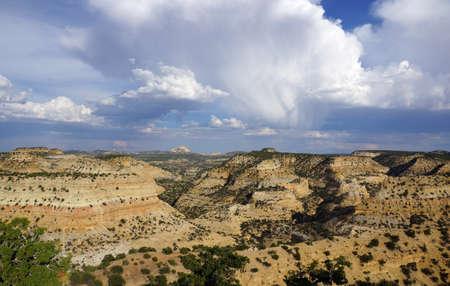 San Rafael Swell: San Rafael Swell landscape in Utah with rain falling from the clouds.