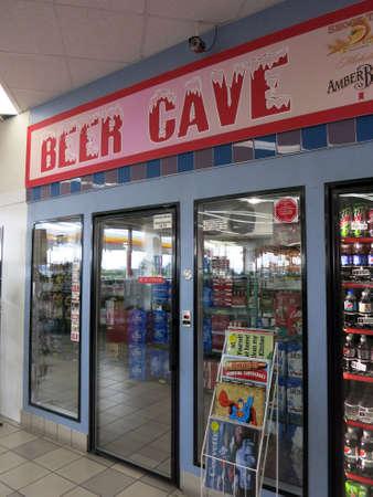 convenience: UTAH - JUNE 30: Beer Cave inside convenience store on June 30, 2015 in Utah.