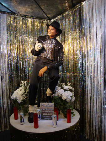 michael jackson: SAN FRANCISCO - JULY 28: Wax Statue of Michael Jackson of his Billie Jean outfit. At the Wax Museum by Fishermans Wharf in San Francisco California on July 28, 2009.
