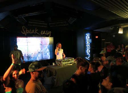 wanderlust: NORTH SHORE, OAHU - FEBRUARY 28:  DJ Drez plays DJ set at nightclub during Wanderlust festival at Oahu, Hawaii on February 28, 2016. Editorial
