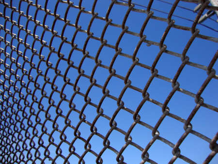 iron curtains: Texture the cage metal net at angle with powerlines.