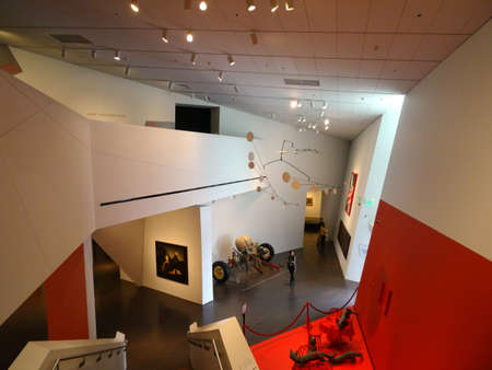 denver history museum: DENVER - JULY 7: Inside The Denver Art Museum — DAM is an art museum located in the Civic Center of Denver, Colorado. The museum is one of the largest art museums between the West Coast and Chicago. It is known for its collection of American Indian art,