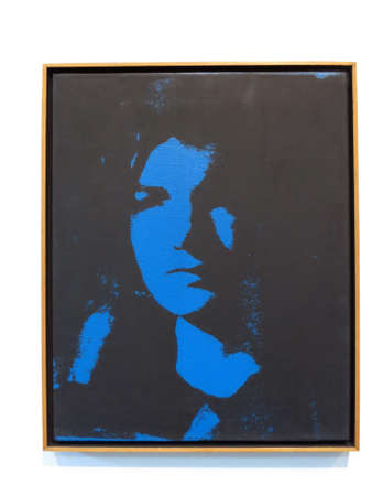 andy warhol: SAN FRANCISCO - MARCH 8: Jackie, 1964 by Andy Warhol, Acrylic and silkscreen ink on canvas.  At the De Young Musuem on March 8, 2016. Editorial