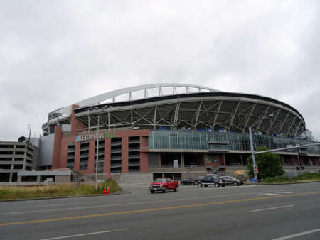 seahawks: SEATTLE - JUNE 24: CenturyLink Field on a cloudy day, Seattle in June 24, 2016. Home of the Seattle Seahawks (NFL) and Sounders (MLS) it has a capacity of max. 72000. Editorial