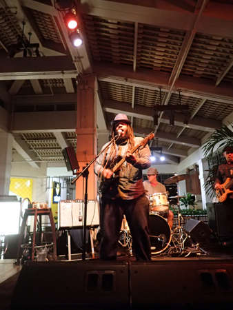 march band: HONOLULU, HI - MARCH 10: Guidance Band Jams on stage at Mai Tai Bar in Ala Moana Shopping Center on March 10 2016, Honolulu, Hawaii.