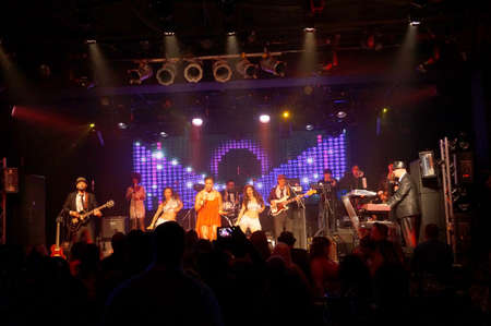 HONOLULU - FEBRUARY 14: Tina Turner Song sang by Group on stage at MOTOWN VALENTINES 5 - A Live Tribute to Motown at The Republik in Honolulu, Hawaii on February 14, 2016.