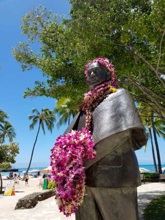 Prince Kuhio Statue covered in Leis in Waikiki. Jonah Kūhiō Kalanianaʻole (March 26, 1871 – January 7, 1922) was a prince of the Kingdom of Hawaiʻi until it was overthrown by a coalition of American and European businessmen in 1893. He later went o