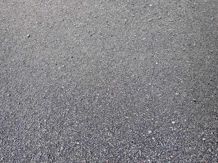 Lava rock black sand close-up on Big Island, Hawaii. Stock Photo