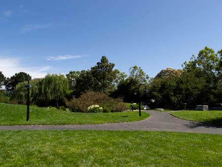 Paths in Levi's Plaza in San Francisco, California.