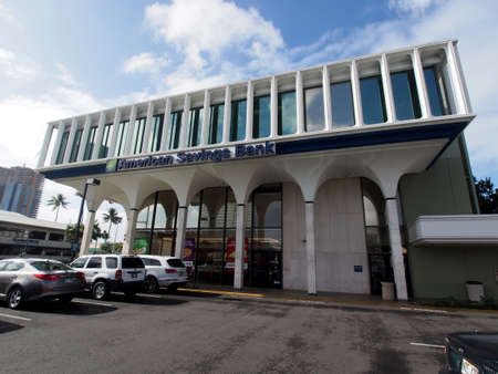 Honolulu - January 25, 2016:  American Savings Bank Queen-Ward branch.  American Savings Bank is Hawaii's third-largest financial institution, with assets of $6.7 billion. A subsidiary of Hawaiian Electric Industries