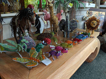 Big Island - October 20, 2018:  Hawaiian Style Items for sale inside Gallery of Great Things.