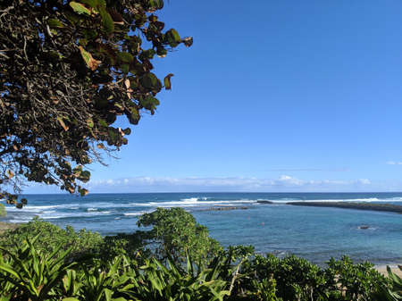 Kuilima Cove Beach at Turtle Bay, Oahu Island North Shore, Hawaii.