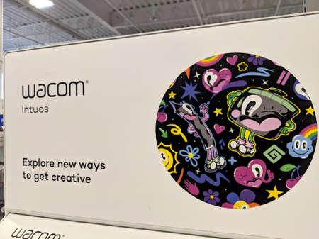 Honolulu - March 16, 2019: Wacom - Professional standard in creative pen tablets - For Sale Inside Best Buy.