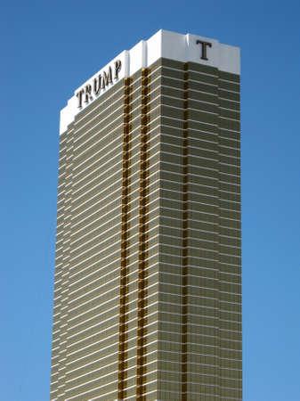 Las Vegas -  September 5, 2011:  Iconic Trump Hotel in Las Vegas against a blue sky.