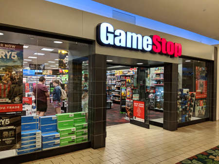 Honolulu - February 7, 2018: Gamestop store in Kahala Mall shopping center. Gamestop Corporation exists since 1984 and has 6,700 stores in many countries.