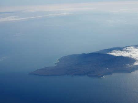 Aerial of Santa Cruz Island. Santa Cruz Island is located off the southwestern coast of California, United States. It is the largest island in California, and largest of the eight islands in the Channel Islands archipelago.