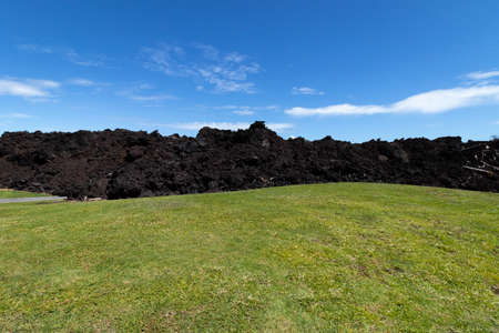 Summer 2018 Lava Flow In A Field At Isaac Hale Beach Park, Pohoiki, Big Island Of Hawaii, USA