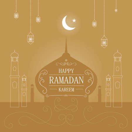 religious backgrounds: ramadan kareem greeting background Illustration