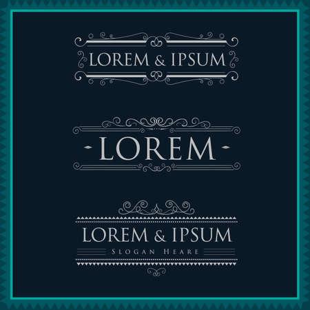 elegant template: Luxury logos template calligraphy flourishes elegant