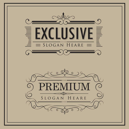 Luxury logos template vintage calligraphy elegant