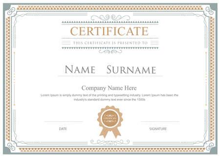 Certificate flourishes elegant template