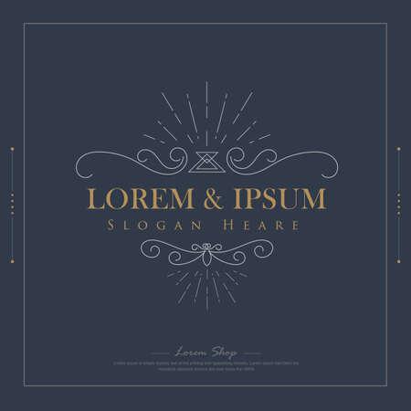 elegant template: Luxury logos template flourishes calligraphy elegant