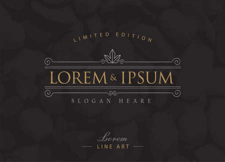 luxury template: Luxury logos flourishes calligraphy elegant template
