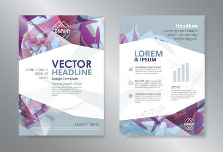 magazines: Template polygon abstract design magazine brochure flyer booklet cover annual report vector layout A4