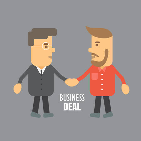 greets: Business people shaking hands