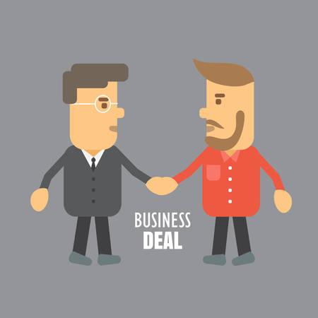 La gente d'affari si stringono la mano Vettoriali